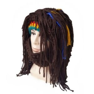 Other - Halloween Costume Knit Mask Wig Beard Hat